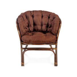 Комплект кофейный из ротанга БАГАМА 03/10 Б (S) (стол, 2 кресла, диван, подушка твил) Ecodesign, Цвет товара: Темно коричневый/Темно коричневый, изображение 3