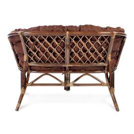 Комплект кофейный из ротанга БАГАМА 03/10 Б (S) (стол, 2 кресла, диван, подушка твил) Ecodesign, Цвет товара: Темно коричневый/Темно коричневый, изображение 5