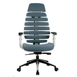 Компьютерное кресло для руководителя Riva Chair SHARK Серый пластик/Серая ткань (26-25), Цвет товара: Cерый, изображение 2