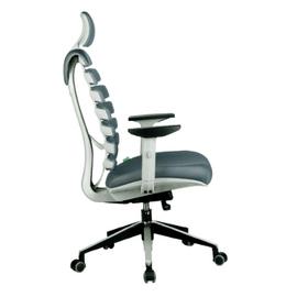 Компьютерное кресло для руководителя Riva Chair SHARK Серый пластик/Серая ткань (26-25), Цвет товара: Cерый, изображение 3
