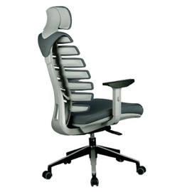 Компьютерное кресло для руководителя Riva Chair SHARK Серый пластик/Серая ткань (26-25), Цвет товара: Cерый, изображение 4