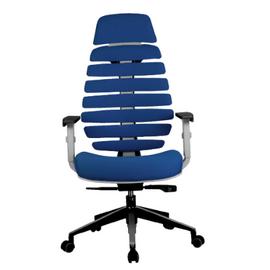Компьютерное кресло для руководителя Riva Chair Shark Серый пластик/Синяя ткань (26-21), Цвет товара: Синий, изображение 2