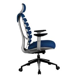 Компьютерное кресло для руководителя Riva Chair Shark Серый пластик/Синяя ткань (26-21), Цвет товара: Синий, изображение 3