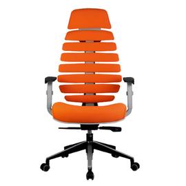 Компьютерное кресло для руководителя Riva Chair Shark Серый пластик/Оранжевая ткань (26-29), Цвет товара: Оранжевый, изображение 2