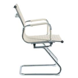 Офисное кресло для посетителей Riva Chair 6016-3 Светлый Беж (Q-071), Цвет товара: Бежевый, изображение 3