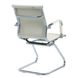 Офисное кресло для посетителей Riva Chair 6016-3 Светлый Беж (Q-071), Цвет товара: Бежевый, изображение 4