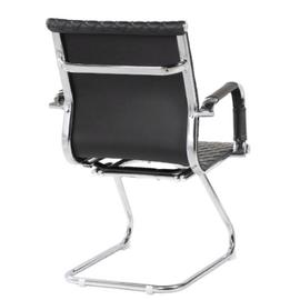 Офисное кресло для посетителей Riva Chair 6016-3 Чёрный (Q-01), Цвет товара: Черный, изображение 4