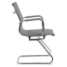 Офисное кресло для посетителей Riva Chair 6016-3 Cерый (Q-022), Цвет товара: Cерый, изображение 3