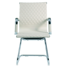 Офисное кресло для посетителей Riva Chair 6016-3 Светлый Беж (Q-071), Цвет товара: Бежевый, изображение 2