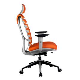 Компьютерное кресло для руководителя Riva Chair Shark Серый пластик/Оранжевая ткань (26-29), Цвет товара: Оранжевый, изображение 3