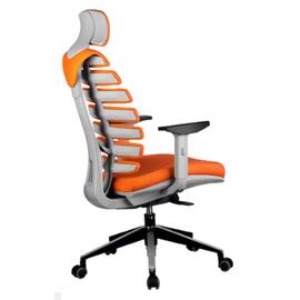 Компьютерное кресло для руководителя Riva Chair Shark Серый пластик/Оранжевая ткань (26-29), Цвет товара: Оранжевый, изображение 4