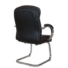 Офисное кресло для посетителей Riva Chair 9024-4 Черный QC-01, Цвет товара: Черный, изображение 4