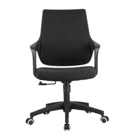 Компьютерное кресло Riva Chair 928 Чёрный кашемир/Чёрный пластик, Цвет товара: Чёрный, изображение 2