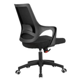 Компьютерное кресло Riva Chair 928 Чёрный кашемир/Чёрный пластик, Цвет товара: Чёрный, изображение 4