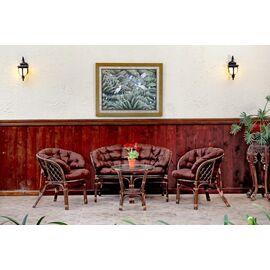 Комплект кофейный из ротанга БАГАМА 03/10 Б (S) (стол, 2 кресла, диван, подушка твил) Ecodesign, Цвет товара: Темно коричневый/Темно коричневый, изображение 10