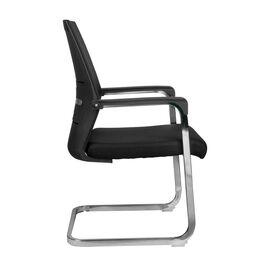 Офисное кресло для посетителей Riva Chair D818 черное, Цвет товара: Черный, изображение 3