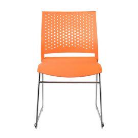 Офисное кресло для посетителей Riva Chair D918 (D918-1) Оранжевый пластик, Цвет товара: Оранжевый, изображение 2