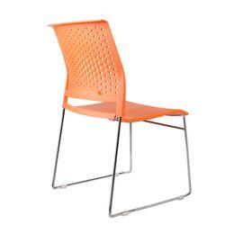 Офисное кресло для посетителей Riva Chair D918 (D918-1) Оранжевый пластик, Цвет товара: Оранжевый, изображение 4