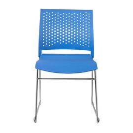 Офисное кресло для посетителей Riva Chair D918 (D918-1) Синий пластик, Цвет товара: Синий, изображение 2