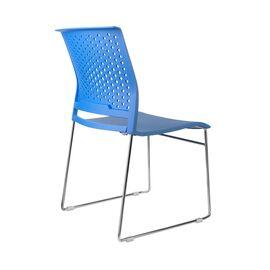 Офисное кресло для посетителей Riva Chair D918 (D918-1) Синий пластик, Цвет товара: Синий, изображение 4
