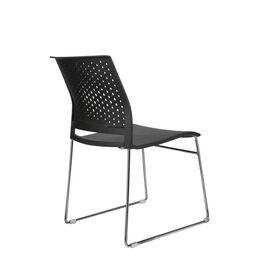 Офисное кресло для посетителей Riva Chair D918 Чёрный пластик, Цвет товара: Черный, изображение 4