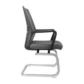 Офисное кресло для посетителей Riva Chair G818 Серая сетка на полозьях (крутящееся), Цвет товара: Cерый, изображение 4