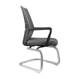 Офисное кресло для посетителей Riva Chair G818 Серая сетка на полозьях (крутящееся), Цвет товара: Cерый, изображение 2