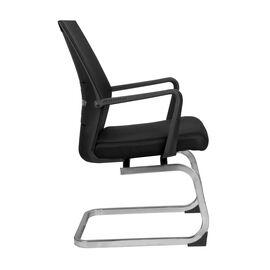 Офисное кресло для посетителей Riva Chair G818 Чёрная сетка на полозьях (крутящееся), Цвет товара: Черный, изображение 4