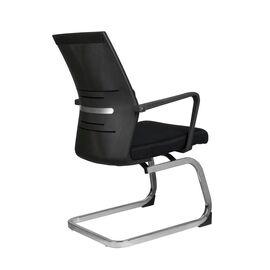 Офисное кресло для посетителей Riva Chair G818 Чёрная сетка на полозьях (крутящееся), Цвет товара: Черный, изображение 5