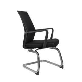 Офисное кресло для посетителей Riva Chair G818 Чёрная сетка на полозьях (крутящееся), Цвет товара: Черный, изображение 2