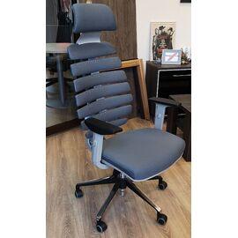 Компьютерное кресло для руководителя Riva Chair SHARK Серый пластик/Серая ткань (26-25), Цвет товара: Cерый, изображение 5