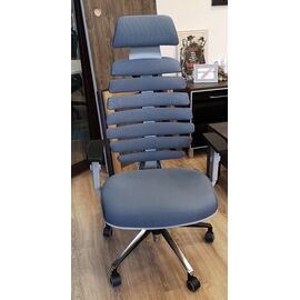 Компьютерное кресло для руководителя Riva Chair SHARK Серый пластик/Серая ткань (26-25), Цвет товара: Cерый, изображение 6
