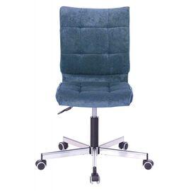 Компьютерное кресло Бюрократ CH-330M/LT-27 без подлокотников темно-синий крестовина металл, Цвет товара: Темно-синий / Хром, изображение 2