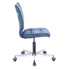 Компьютерное кресло Бюрократ CH-330M/LT-27 без подлокотников темно-синий крестовина металл, Цвет товара: Темно-синий / Хром, изображение 3