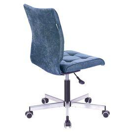 Компьютерное кресло Бюрократ CH-330M/LT-27 без подлокотников темно-синий крестовина металл, Цвет товара: Темно-синий / Хром, изображение 4