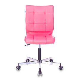 Компьютерное кресло Бюрократ CH-330M/PINK без подлокотников розовый Lincoln 205 искусственная кожа крестовина металл, Цвет товара: Розовый Lincoln 205, изображение 3