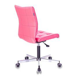 Компьютерное кресло Бюрократ CH-330M/PINK без подлокотников розовый Lincoln 205 искусственная кожа крестовина металл, Цвет товара: Розовый Lincoln 205, изображение 5