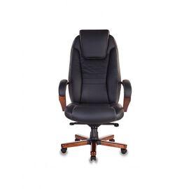Компьютерное кресло для руководителя Бюрократ T-9923-MAHOGANY/BLACK черный кожа крестовина дерево, Цвет товара: Черный / Махагон, изображение 2