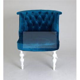 Кресло Бархат (эмаль белая / 34 - королевский синий) Red Black, Цвет товара: Королевский Синий, изображение 3