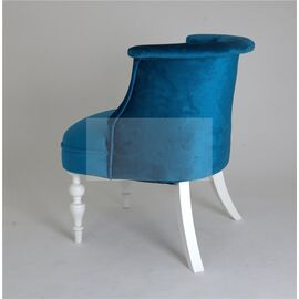Кресло Бархат (эмаль белая / 34 - королевский синий) Red Black, Цвет товара: Королевский Синий, изображение 4