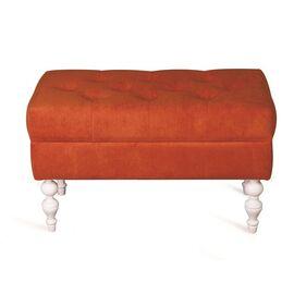 Банкетка Виктория (эмаль белая / G08 - морковный) Red Black, Цвет товара: Оранжевый, изображение 2