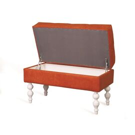 Банкетка Виктория (эмаль белая / G08 - морковный) Red Black, Цвет товара: Оранжевый, изображение 3