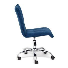 Компьютерное кресло «Zero» флок , синий, 32 TetChair, Цвет товара: Синий,тон 32, изображение 4