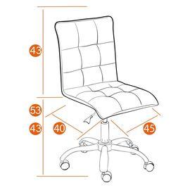 Компьютерное кресло «Zero» флок  оранжевый 18 TetChair, Цвет товара: Оранжевый, изображение 2