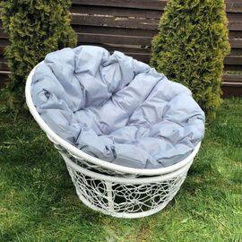 Кресло Papasan Patio-23-01 met 6 цвет плетения белый, цвет подушки серый EcoDesign, Цвет товара: Белый/Серый, изображение 2
