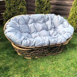 Кресло Mamasan Patio-23-02 met 12 цвет плетения светло-Коричневый, цвет подушки серый EcoDesign, изображение 2