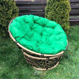 Кресло Papasan Patio-23-01 met 11 цвет плетения светло-Коричневый, цвет подушки зеленый EcoDesign, Цвет товара: Коньячный/Зеленый, изображение 2