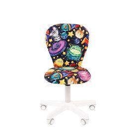 Компьютерное кресло для детской комнаты Chairman KIDS 105 белый пластик (Космос), Цвет товара: Космос, изображение 2