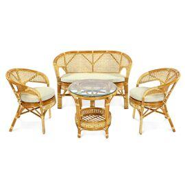 Кресло из ротанга ПЕЛАНГИ, 02-15В К Ecodesign, Цвет товара: Коньячный, изображение 2