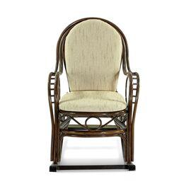 Кресло-качалка с подножкой MARISA-R , 05-12 Б (подушка рогожка) EcoDesign, изображение 2